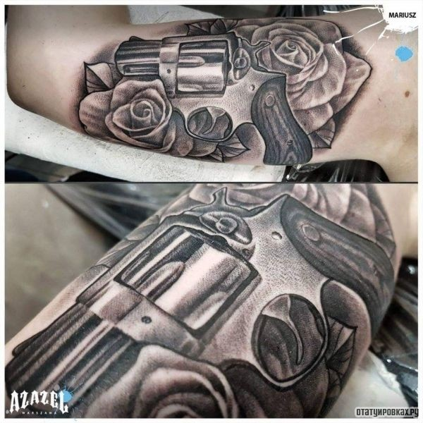 Татуировка ствол
