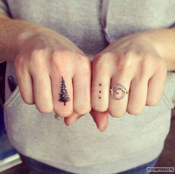 Три точки на пальце