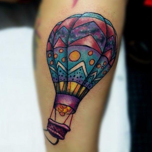 Большой узорчатый воздушный шар