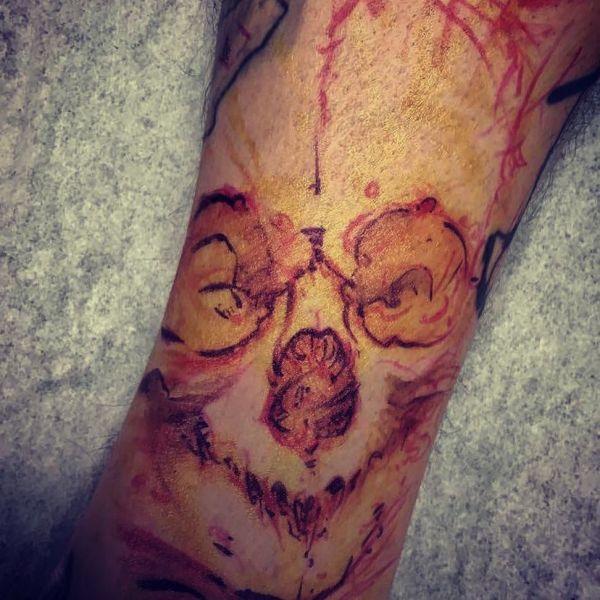 Татуировка зло в виде изображения лица