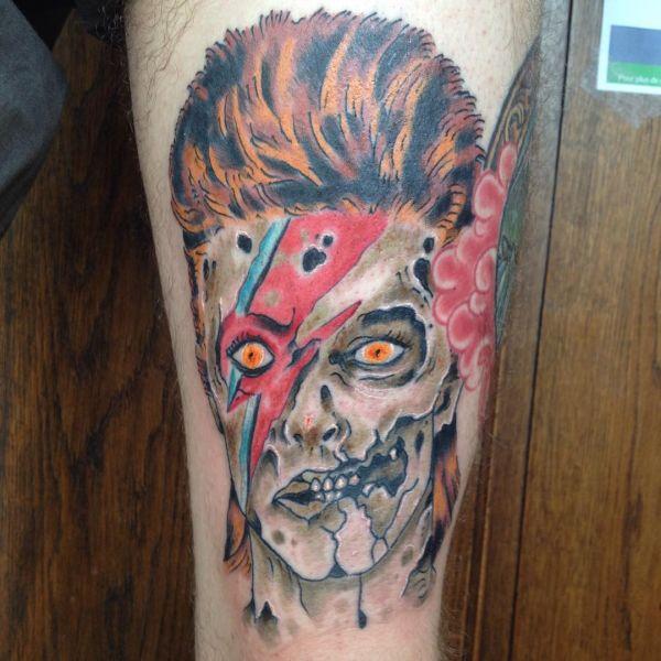 Жуткий зомби в цвете татуировка