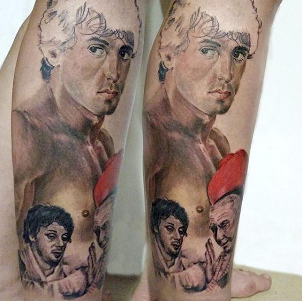 Татуировка фаната Брюса Ли