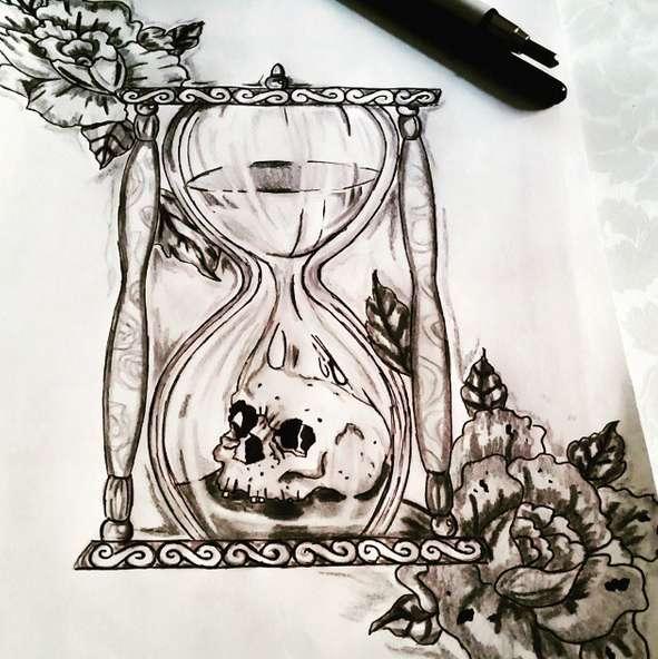 Как нарисовать песочные часы