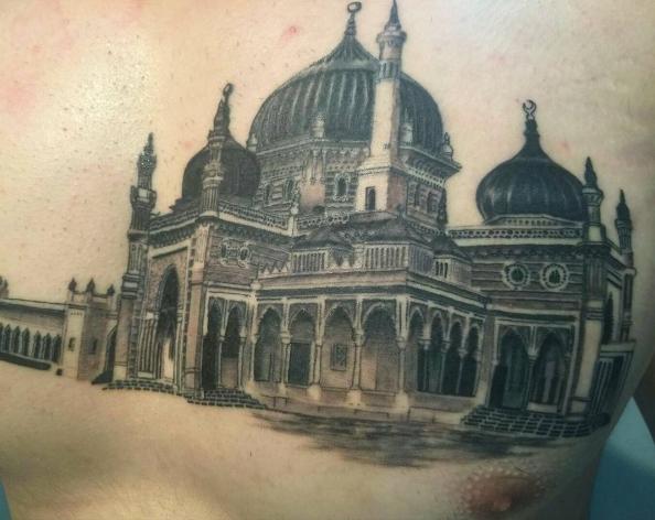 Мусульманская татуировка: мечеть