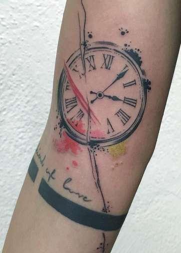 Акварель часы