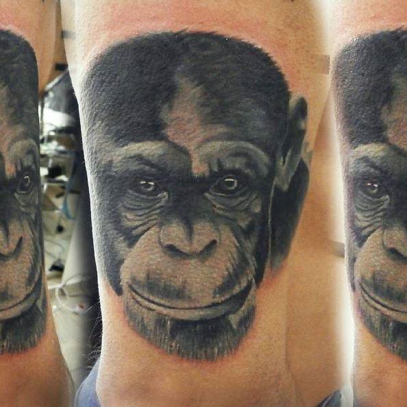 Татуировка морда обезьяны