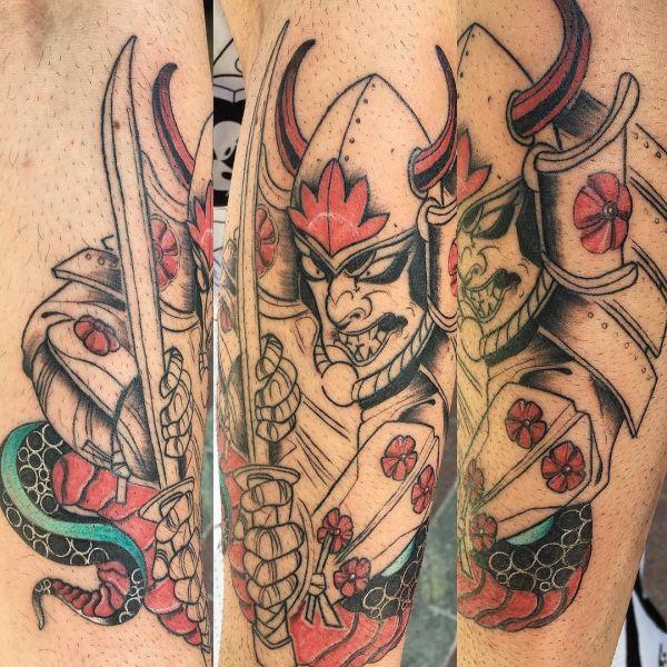 Незаконченная татуировка самурая