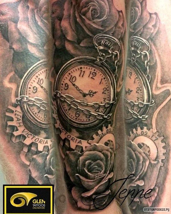 Татуировка шестеренка