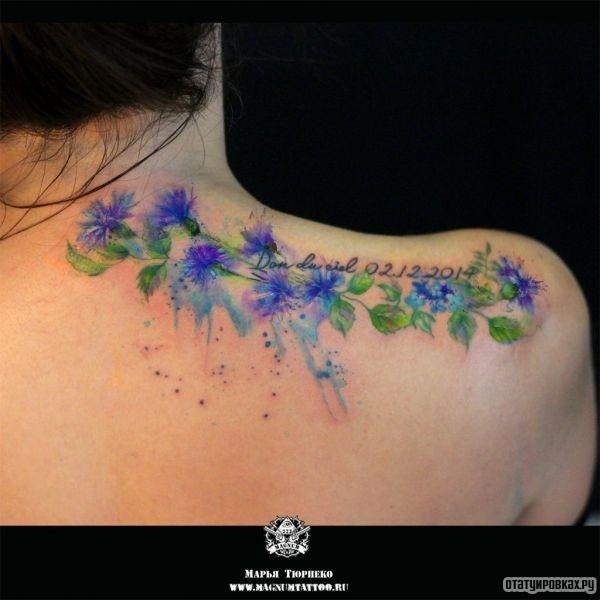 Татуировка василек