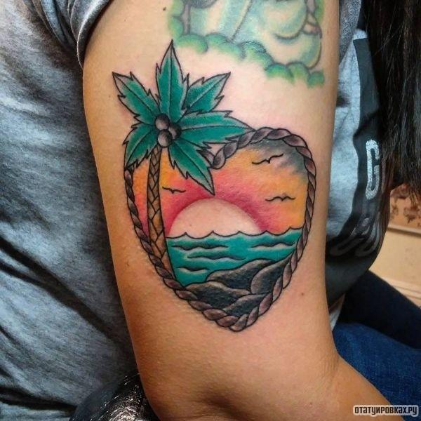Татуировка закат