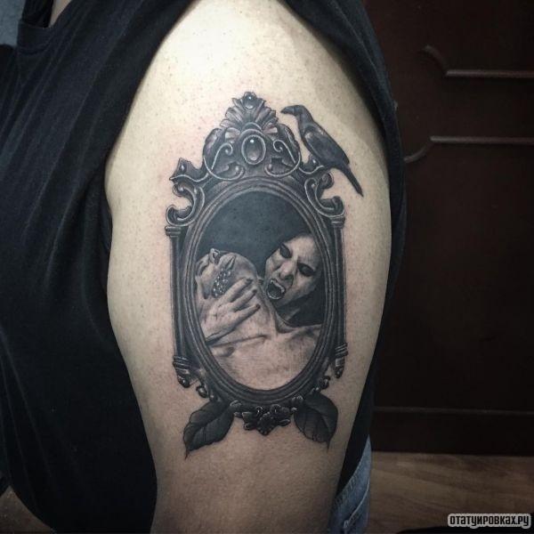 Татуировка зеркало