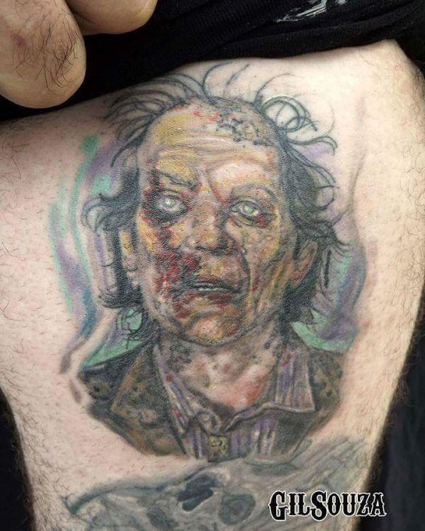 Бледная татуировка зомби в цвете