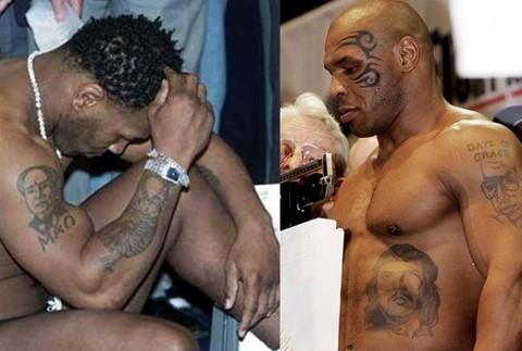 Все татуировки Майка тайсона на теле