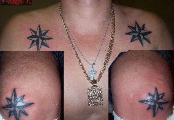 Звезды на плечах - воровская тату