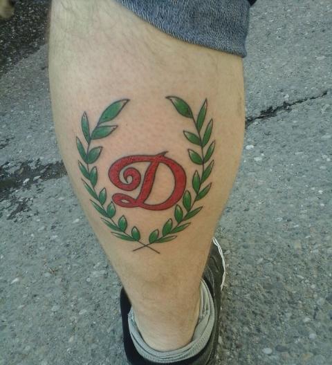 Татуировка фаната болельщика клуба Динамо