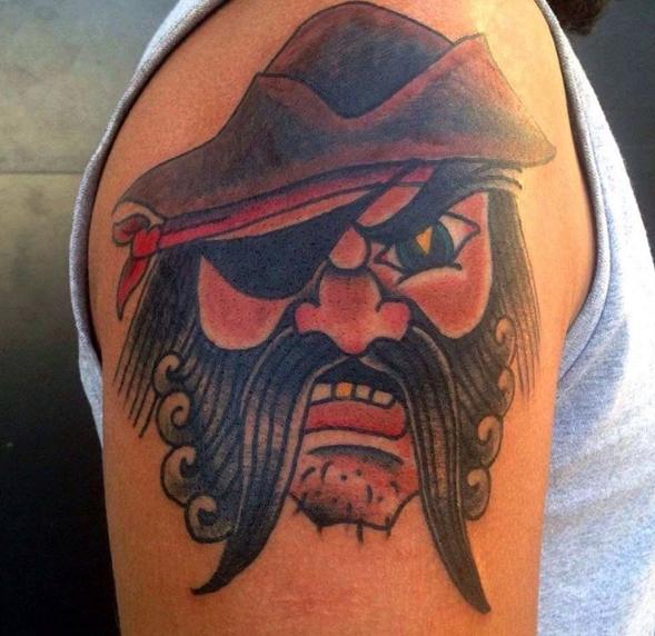 Пират в стиле олд скул