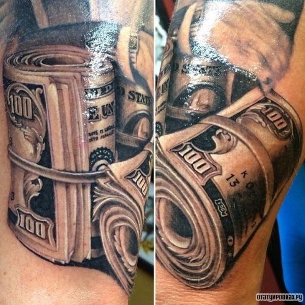 Татуировка деньги