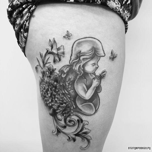 Татуировка херувим
