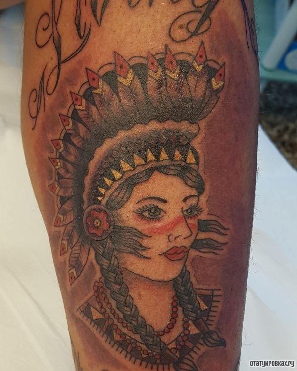 Татуировка индианка