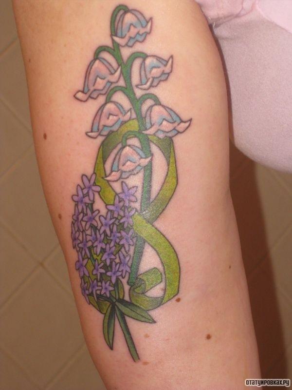 Татуировка ландыш с цветами
