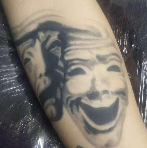 Татуировка реалистичные маски