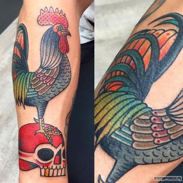 Татуировка петух