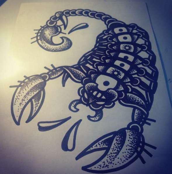 Эскиз скорпиона
