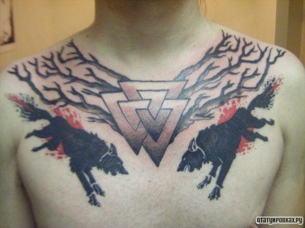 Татуировка валькнут