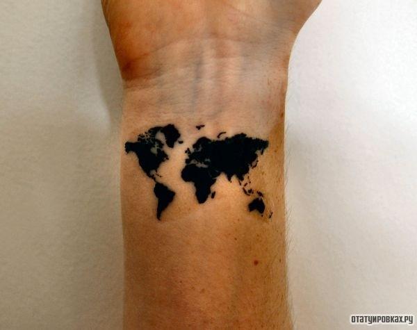 Татуировка земля
