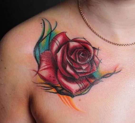 Абстракция красивой розы