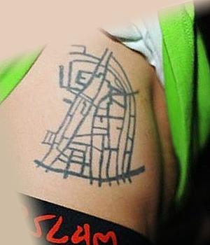 Татуировка Замоскворечья у Гуфа