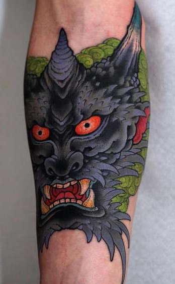 Голова японского дракона