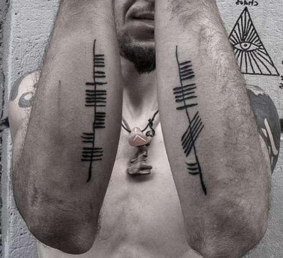 Языческие пиктограммы на руках