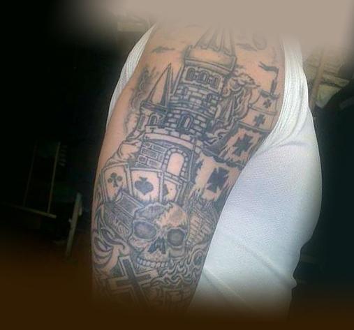 Вариант татуировки бардак на плече заключенного