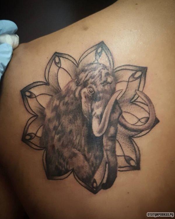 Татуировка мамонт