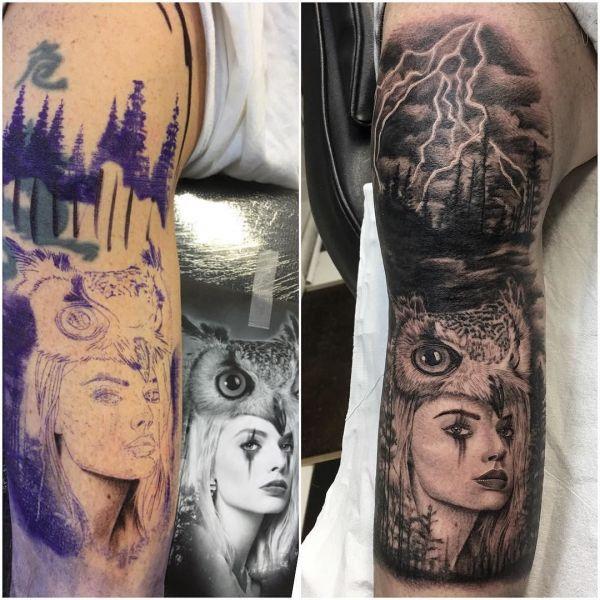 Татуировка рукав с молнией