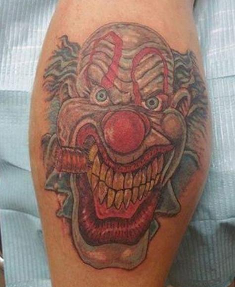Татуировка шута с сигарой