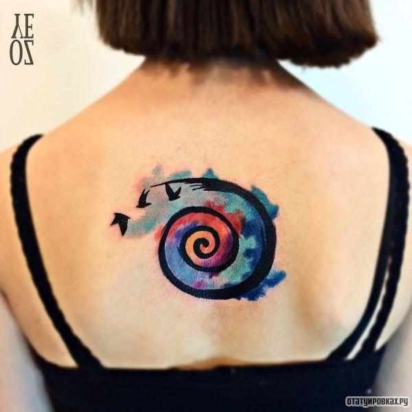 Татуировка спираль