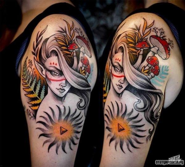 Татуировка эльф