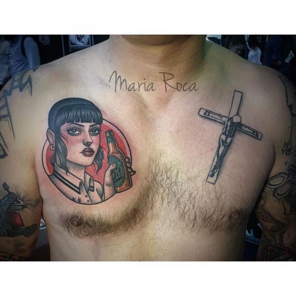 Татуировки скинхеда на груди