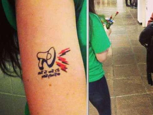 Татуировка громкоговорителя