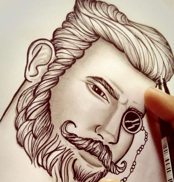как рисовать тату рисунки