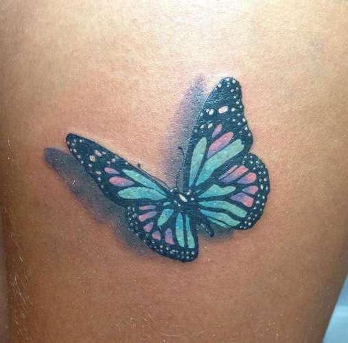 3D бабочка в виде татуировки