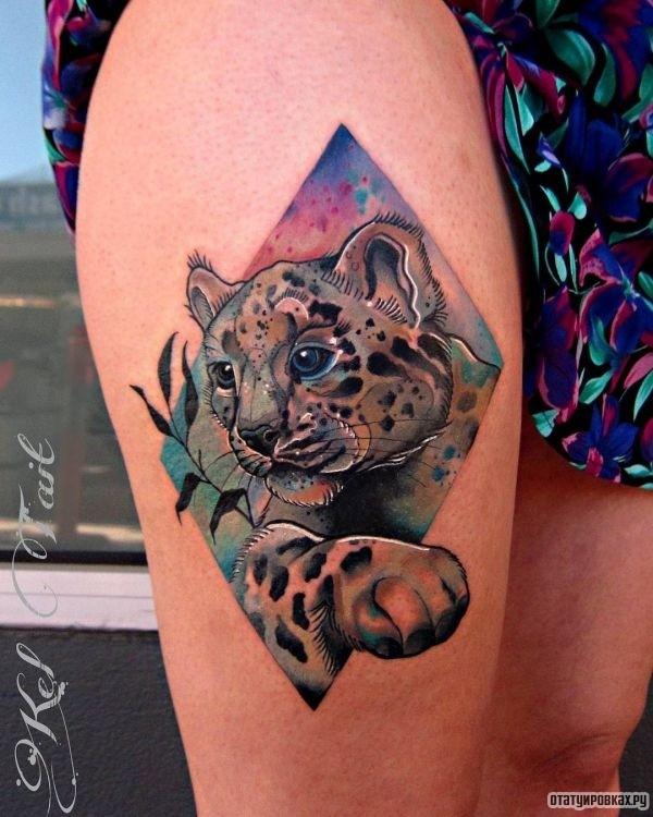 Татуировка ирбис