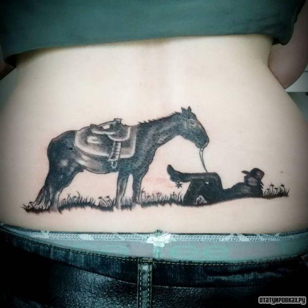 Татуировка ковбой
