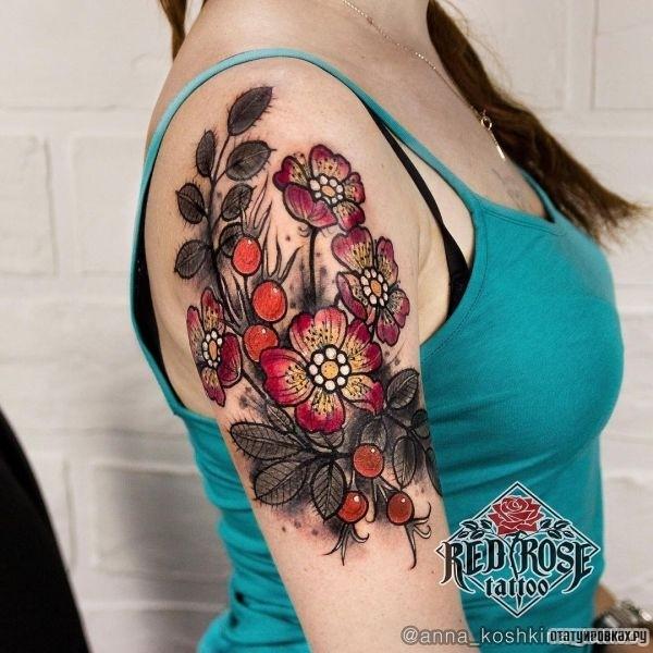 Татуировка шиповник