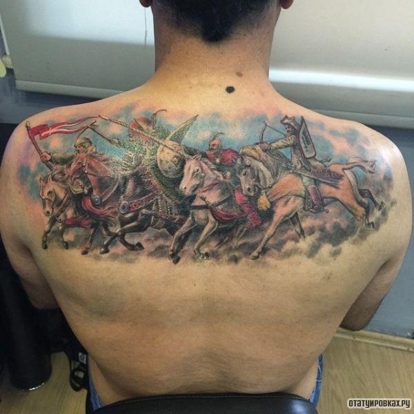 Татуировка всадник
