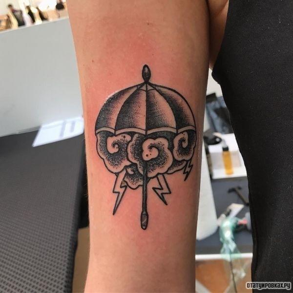 Татуировка зонтик