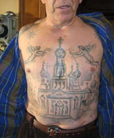 Воровская татуировка - купола и ангелы