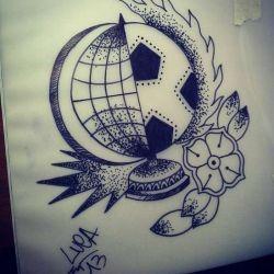 футбольные татуировки эскиз